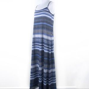 Joe Fresh Nordstroms Maxi Stripe Dress XS Blue